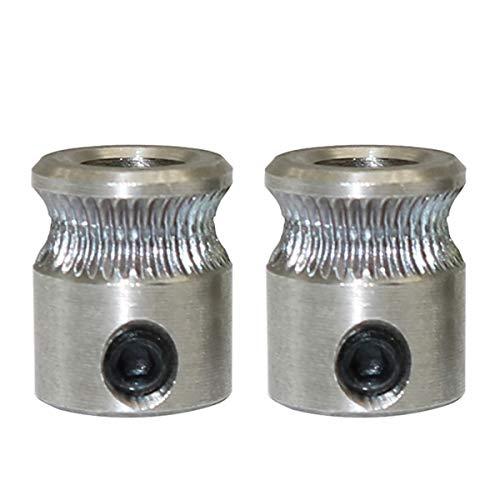 Engranaje extrusor de accionamiento directo MK8, filamento de 1,75 mm, para impresoras 3D, con eje de 5 mm, 2 unidades
