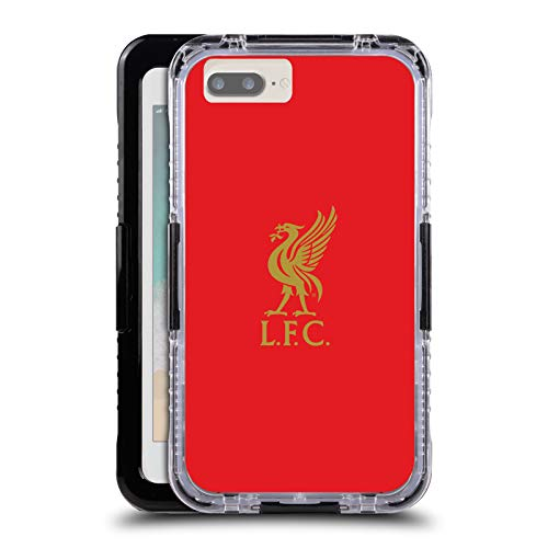 Officiële Liverpool Football Club Goud logo op rood Lever Vogel Black Water Resistant Case Compatible for Apple iPhone 7 Plus/iPhone 8 Plus