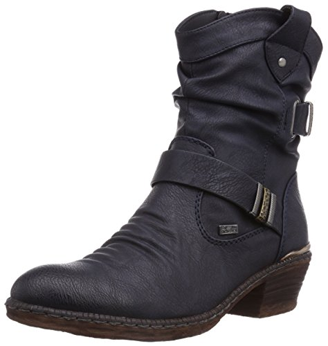 Rieker Damen 93871-14 Cowboy Stiefel, Blau (uniform / 14), 36 EU