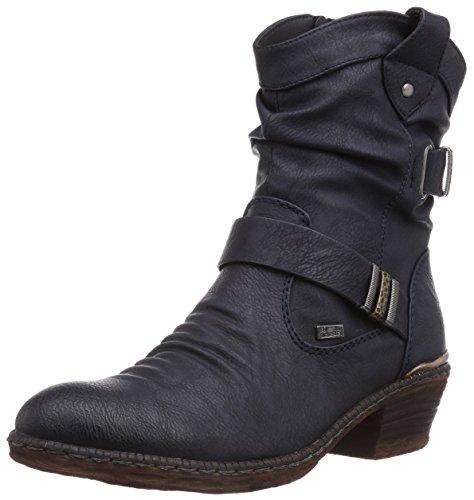 Rieker Damen 93871-14 Cowboy Stiefel, Blau (uniform/14), 37 EU (4 Damen UK)