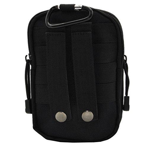 Taktische MOLLE-Tasche Mehrzweck-EDC Utility Gadget Gürtel Hüfttasche für Handy Camping Wandern Schwarz