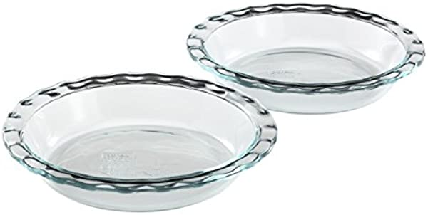 Pyrex Easy Grab Glass Pie Plate 9 5 Inch 2 Pack