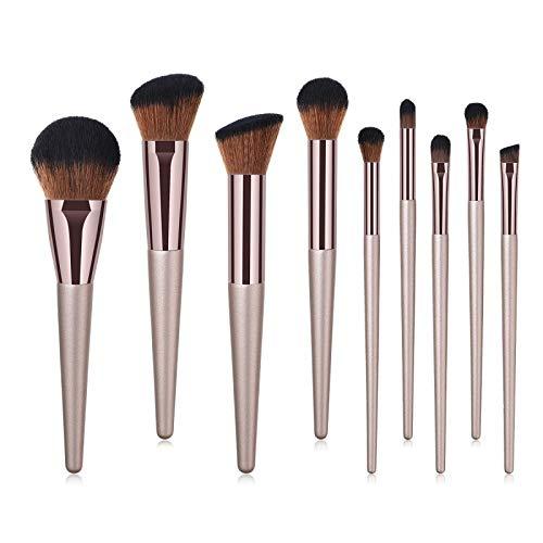 Pinceaux à maquillage, 9-11pcs pinceaux de maquillage de mode avec sac Fondation cosmétiques Sourcils Pinceau fard à paupières pinceau de maquillage Ensembles Outils Maquiagem ( Handle Color : 11pcs )