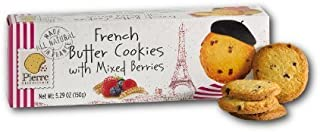 Pierre Biscuiterie French Butter Cookies with Mixed Berries 5.29 Oz. Box (Pack of 3)