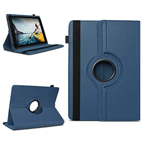 NAmobile Tablet Schutzhülle für Medion E6912 aus Hochwertigem Kunstleder Hülle Tasche Standfunktion 360° Drehbar Kombiniert Schutz & Design in Verschiedenen Farben Cover Hülle Universal, Farben:Blau