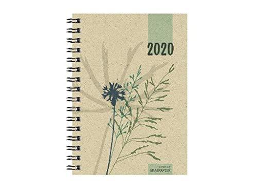 Zettler 639-0640-1 - Wochenbuch 2020, A6, aus Graspapier, 1 Woche/2 Seiten, 1 Stück