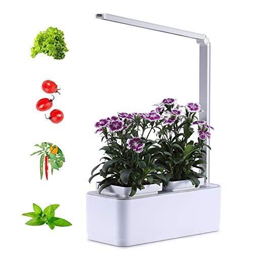 ZDYLM-Y Smart Garden, multiespectro LED de Escritorio Cada Vez Mayor de la lámpara con función de recordatorio de riego automático, Temporizador automático, no Contiene Semillas