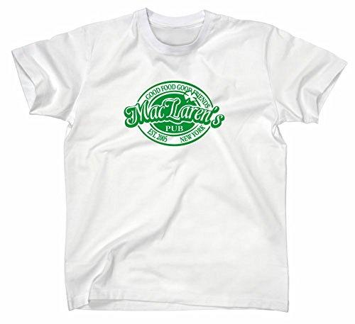 # 2How I Met Your Mother maclarens Pub T-shirt, Suit Up Medium Weiss