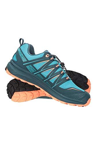 Mountain Warehouse Himalayas Zapatos de aproximación Mujer - Calzado Deportivo Ligero, Parte Superior de Malla, Plantilla EVA - para Caminar, Senderismo, Gimnasio Verde Agua Talla Zapatos Mujer 41 EU