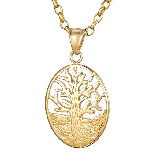 Morella Collane da Donna con Ciondolo a Forma dell' Albero della Vita - Prosperità 70 cm in Sacchetto di Velluto