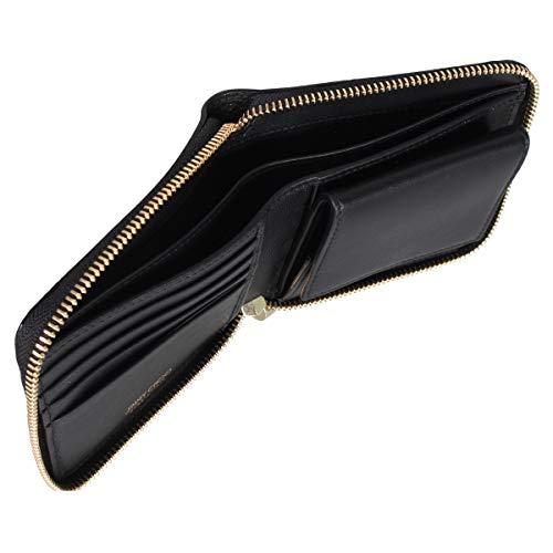 ジミーチュウJIMMYCHOO財布二つ折りラウンドファスナースタッズWALLETTESSA-EMGブラック黒[並行輸入品]