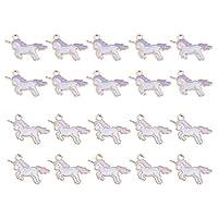 ユニコーン チャーム ペンダント DIY ブレスレット ネックレス 用品 ハンドメイド材料 約20個