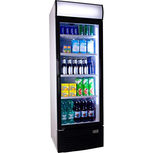 Getränkekühlschrank ZK 380 Flaschenkühlschrank Kühlschrank mit Glastüre Gastro Getränkekühler