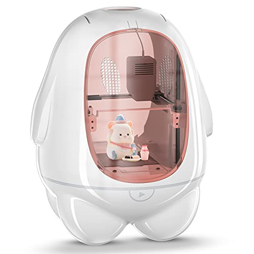 3D Printer for Kids & Beginners K5 Mini Desktop 3D Printer Fully Assembled 3D Printing Machine Print Size 80x80x100MM One Key & Mute Printing PLA Filament Protective Window Household Education