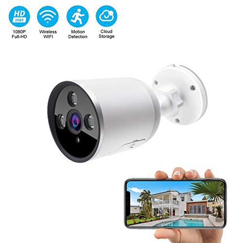 Find Bargain Outdoor WiFi Security Camera, 1080P Wireless Night Vision Security Cameras with Two-Way...