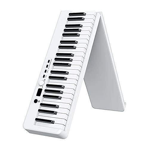 ZHANGCHI 88キー電子キーボード携帯用デジタルミュージックピアノ、折りたたみピアノ、ポータブル