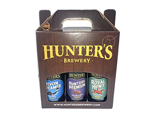 Hunters Brewery 3 Pack Ale Selection Beer Gift Hamper Pack - A mix Of Royal Hunt, Hunters Premium, Devon Dreamer - 3X 500ml - Valentine Gifts For Him