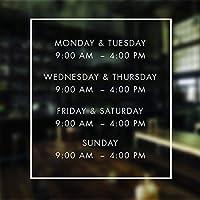 グレートティンサインアルミニウム営業時間サイン営業時間ショーウィンドウステッカーV7のサインオープンクローズドサイン営業時間デカール屋外および屋内サイン壁の装飾12x8インチ