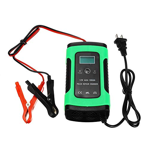 Buy MTSBW Car Jump Starter, 12V 5A Automatic Intelligent Battery Charger, LCD Display, 100AH P...