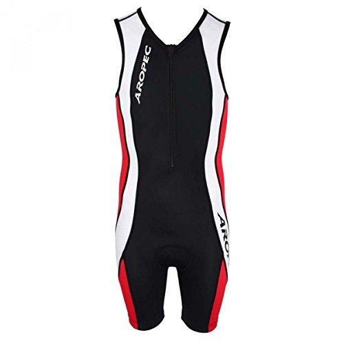 Aropec Triathlon Duathlon Triathlon-Anzug, für Kinder, Schwarz/Rot/Weiß, 8 Jahre