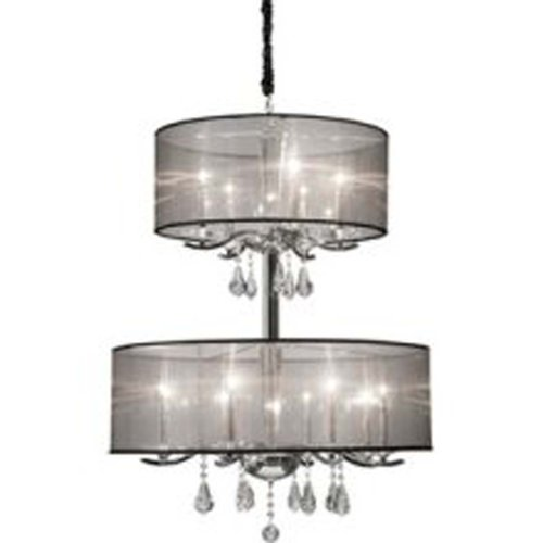 Artcraft Lighting Contessa 12-Light Chandelier, Chrome