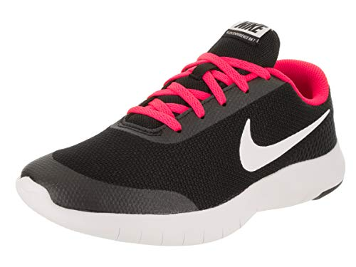 Nike Kids Flex Experience Rn 7 (GS) Black/White/Racer Pink Running Shoe 6 Kids US