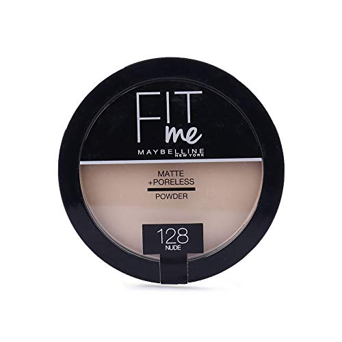 Maybelline Fit Me Matte Poreless Powder Compact 14g - 128 Nude