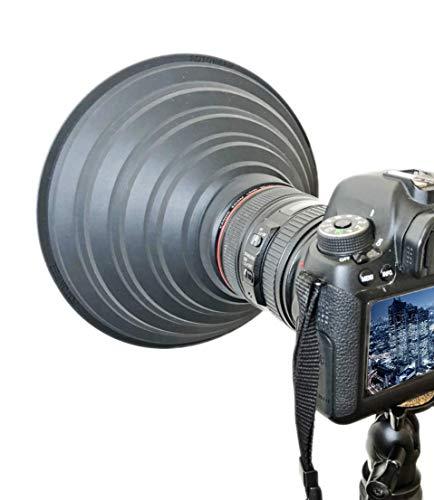 FOTONEER レンズフード 夜景撮影 ガラス越し撮影 窓ガラスの映り込み防止 反射防止 夜景 撮影 特大サイズ ...