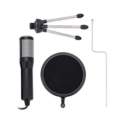Microfone Condensador, Microfone Condensador USB, Previne Pulverização de Ar, Protege o Microfone, Efetivamente Enter, Plug and Play, para Skype MSN