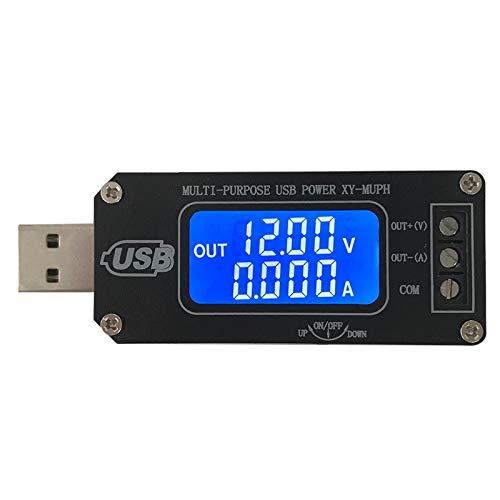 PEMENOL DC-DC USB Step UP/Down Power Supply Module Adjustable Boost Buck Converter LCD Voltmeter Ammeter Battery Capacity