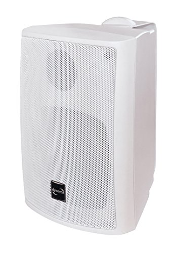 Dynavox PB402 HiFi Box mit Wandhalterung, kompakter 3-Wege Lautsprecher, Weiss