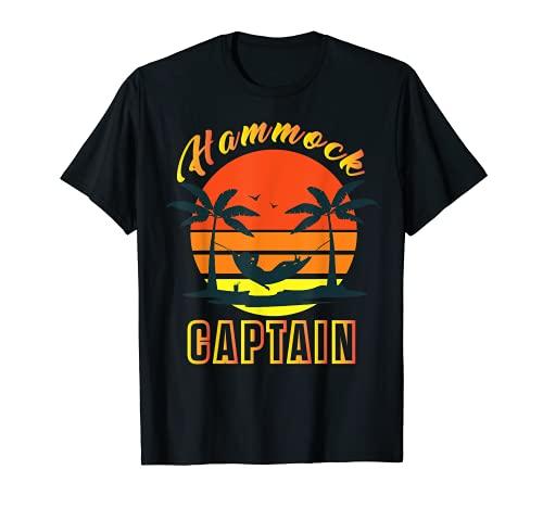 Summer Funny Hamaca Capitán Retro Sunset Graphic Camiseta