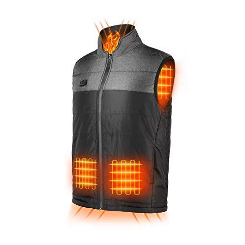 HOBFU Lightweight Heated Vest for Women Men With Battery Warming heated Jacket Heater Waistcoat for Outdoor