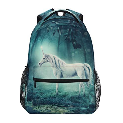 HaJie Backpack Forest Unicorn Animal Travel Daypack Large Capacity Rucksack Casual School Book Bag Shoulder Straps Computer Laptop Bag for Womens Mens Teenage Girls Boys