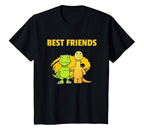 Niños Best Friends Dinos Mejores Amigos Los Chicos Dinosaurios Camiseta