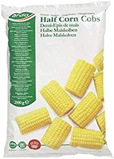 Ardo Half Corn On The Cob | Fresh & Healthy | Small Size | Cleaned & Sanitized before dispatch | Premium Quality | No Addi...