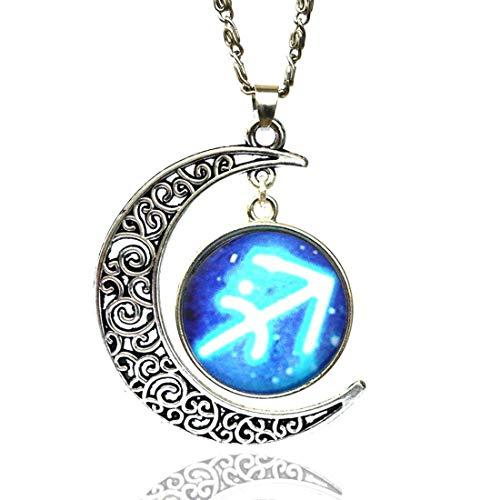 Sagittarius halsketting VENURY 08 sterrenbeeld en maan Sagittarius Oroscopo