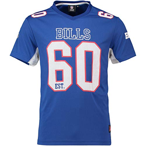 Majestic Athletic Buffalo Bills NFL Moro Poly Mesh Jersey Tee T-Shirt Trikot Blue Gr.L