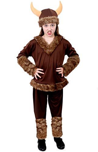 Disfraz de viking para niños, de media valle, ideal para fiestas de televisión o película, tamaño grande