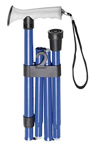 First Aid Only wandelstok opvouwbaar, 83 tot 93 cm in hoogte verstelbaar, blauw, P-10029