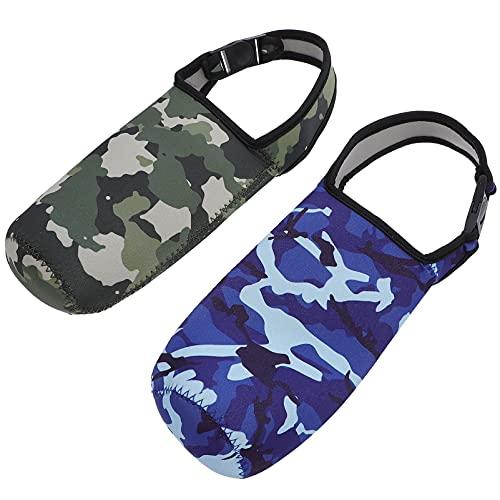 Amosfun 2 bolsas de aislamiento para botella de agua con mangas aisladas de camuflaje, portátil, para botella de exterior, 300 a 600 ml