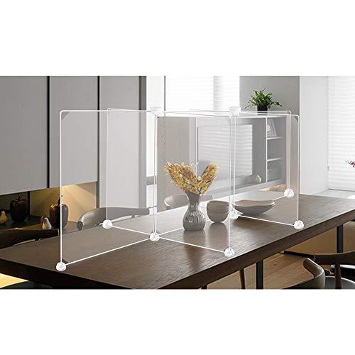 100FIXEO Plastic Protection Barrier Sneeze Guard for Desk Translucent Partition Board Student Partition Class (7PCS)