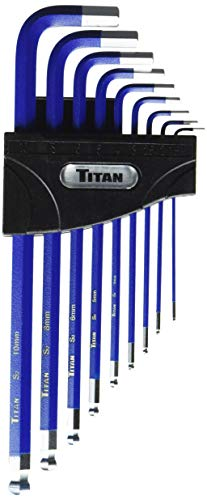 Titan Tools 12714 9-Piece Metric Extra Long Ball End Hex Key Set