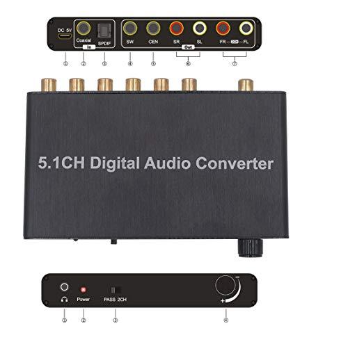 SOUTHSKY 5.1CH DAC Konverter Audio Decoder Unterstützung Dolby AC-3 DTS Digital Optical Koaxial Toslink zu RCA 3.5mm Jack Support 2.0CH Für Xbox