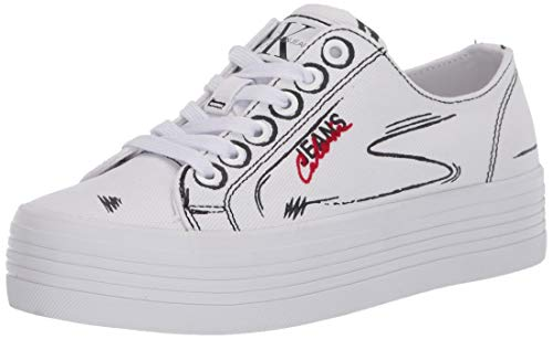 Calvin Klein Jeans Zaffiro B4R0887 Bianco Sneakers Casual Donna