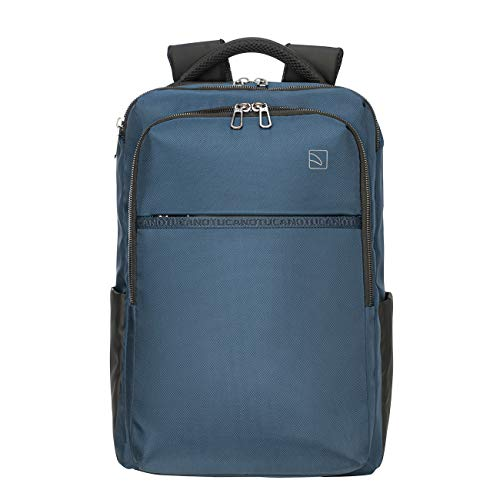 Tucano - Martem Zaino Porta PC, Computer, Laptop 15.6 Pollici, Compatibile con MacBook PRO 16', Capiente, Design Contemporaneo, Uomo e Donna, Blu