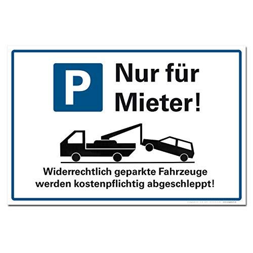 Cartel de aparcamiento solo para los alquileres, prohibición de parar, señal de tráfico, aparcamiento, aviso