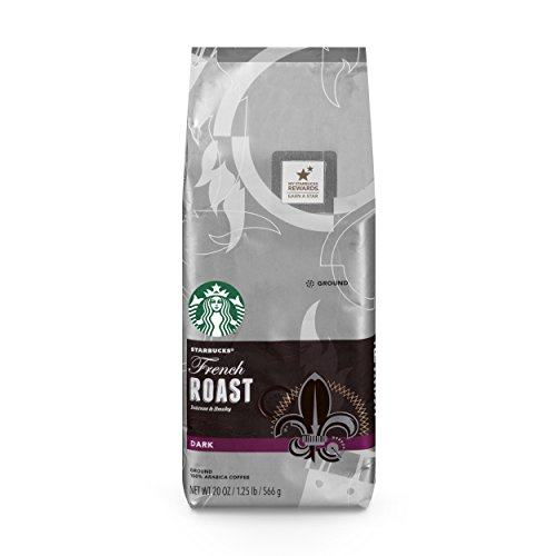 Starbucks French Roast Dark Roast Ground Coffee, 20 Oz. Bag | Great Holiday Gift for Coffee Lovers