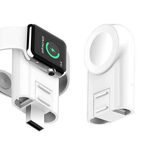 Cargador Inalámbrico Magnético, Para iWatch 1/2/ 3/4/ 5/6 Generation Mag-safe Portable Wireless Charging USB Cable Lanyard (No hay línea)