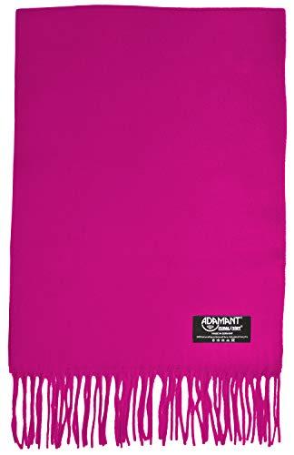 ADAMANT Damen Schal, 100% Climaxsoft (weich wie Kaschmir) Made in Germany uni/Einfarbig - 180x30cm - Pink